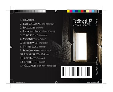 "CD Tray Design Adobe Photoshop, Illustrator, Indesign * ""FallingUp"" name and type content copyright belongs to the official Falling Up Band"