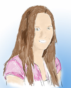Portrait Digital Water Color Corel Painter