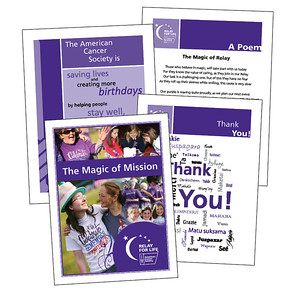 American Cancer Society Some pages from the Relay Mission Moments booklet