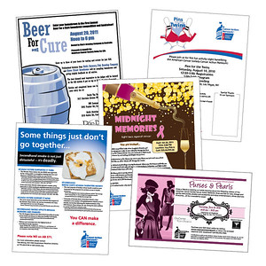 American Cancer Society Assorted flyers for American Cancer Society Cancer Action Network events and fundraisers