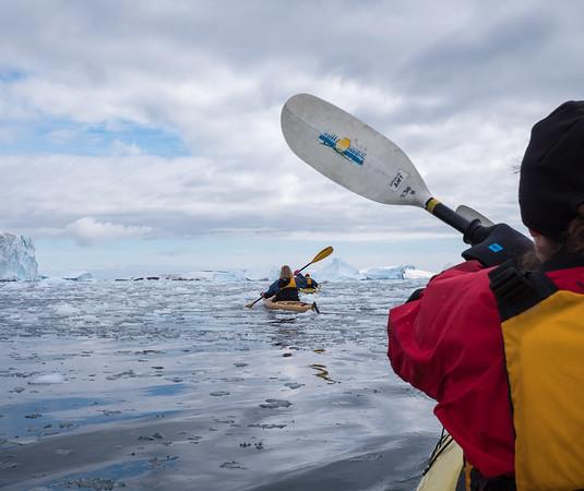 Kayaking Through Brash Ice