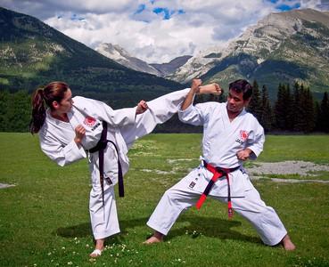 Senseis Taneda and Kuono, Canmore, Canada