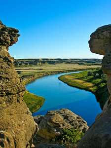 Milk River through the Hoodoos, Writing on Stone Provincial Park, Alberta, Canada