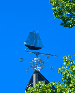 Weather vane featuring the Blue Nose on top of Halifax City Hall
