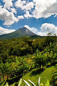 The smoking Arenal Volcano, Costa Rica