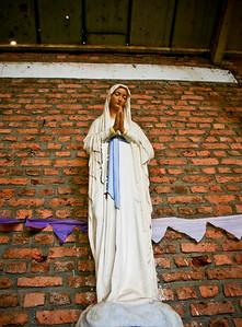 Virgin Mary Statue in Catholic Church which was the site of a massacre in 1994 Genocide, Rwanda, Africa