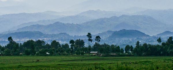 Volcanic Hills near Ruhengeri, Rwanda, Africa