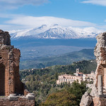Teatro Antica and Mt Etna