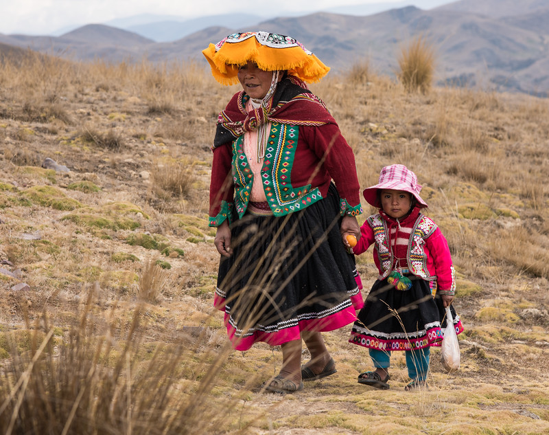Andean Mother and Girl