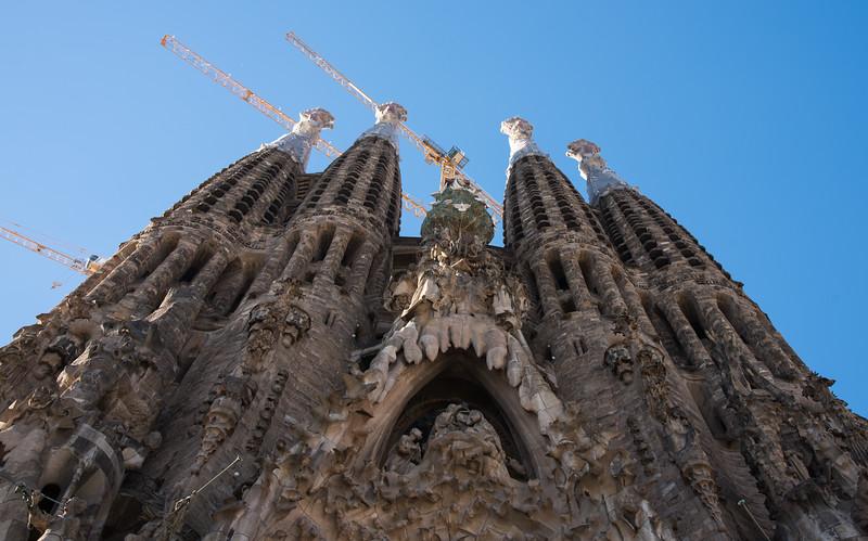 Face of the Sagrada Familia Cathedral
