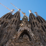 Face of the Sagrada Familia Cathedral