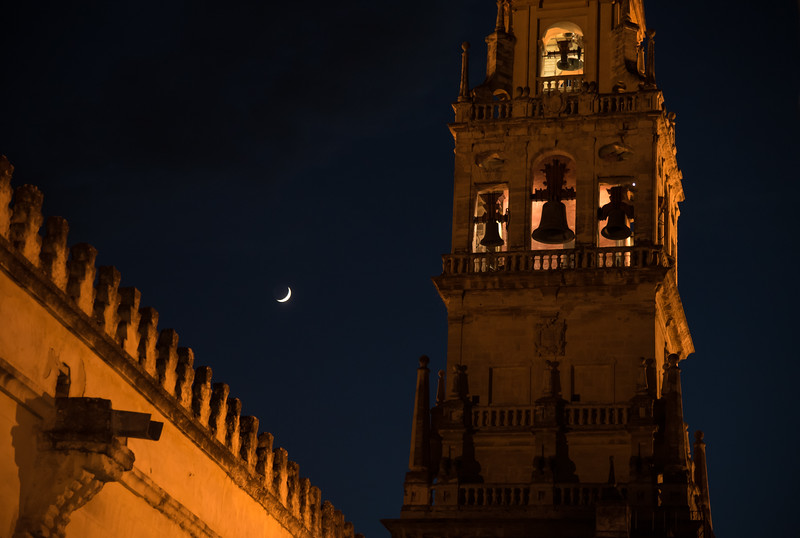 Mezquita Bell Tower and Moon