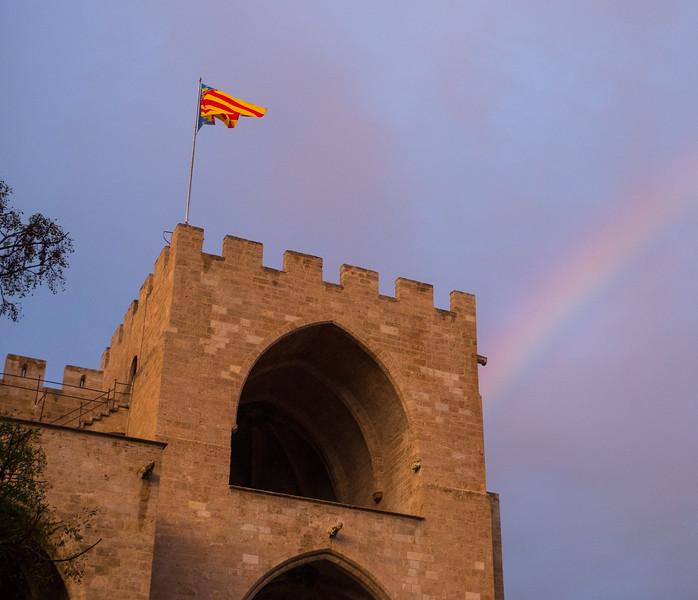 Torres de Serranos and Rainbow