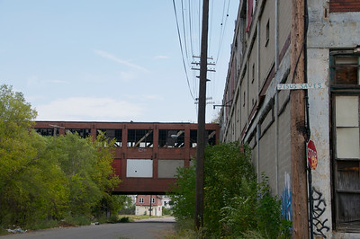 Packard Plant - Jesus Saves sign
