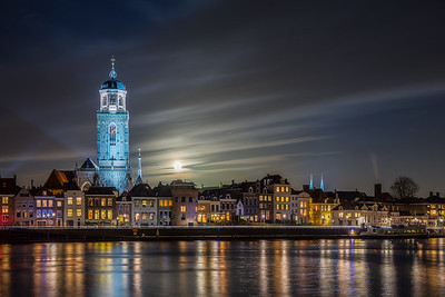 Deventer Lebuinus met volle maan