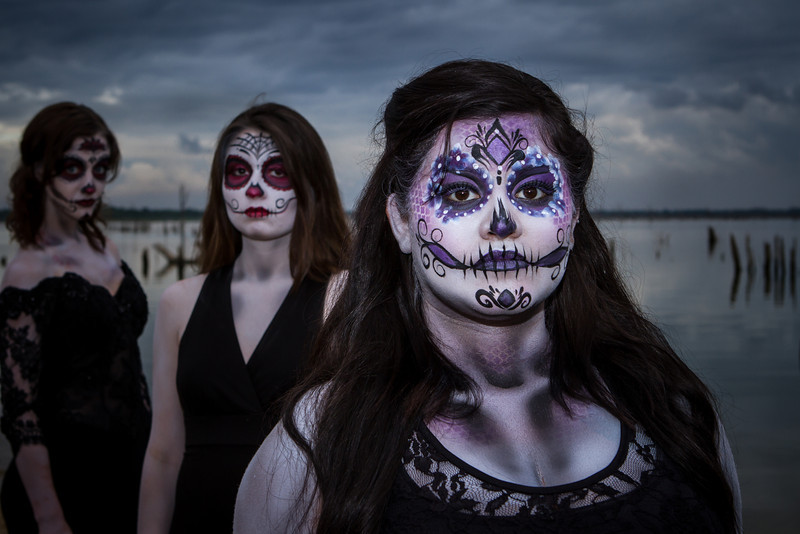 Make up: Vicki Long (left, middle) and Sharon Hodges (right)<br /> Photo: Robert Long