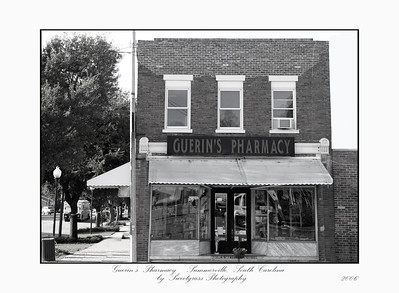 Guerin's Pharmacy is the oldest retail pharmacy still in business in the state of South Carolina.  Opened in 1871, the business has been owned by only two families. Guerin's offers full pharmacy service, accepting most insurances, and soda fountain service consisting of hot dogs with homemade chili, ice cream, fresh squeezed lemonades and orangeades and a huge candy selection.