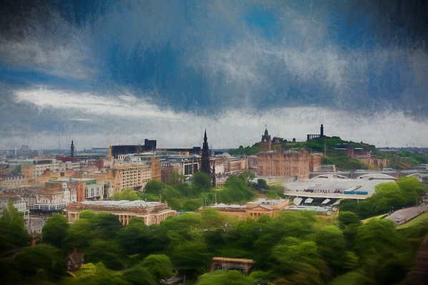 A view of Edinburgh