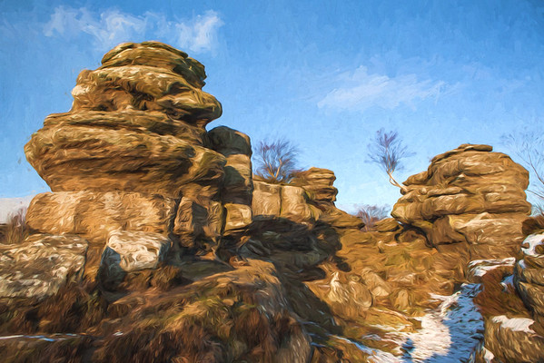 Painting of Brimham Rocks