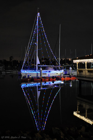 Christmas Lighted Boat