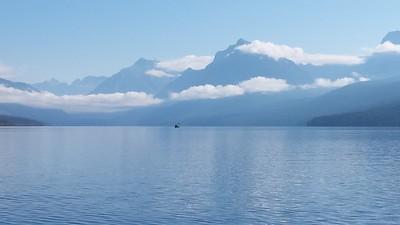 Kayaker on Lake McDonald