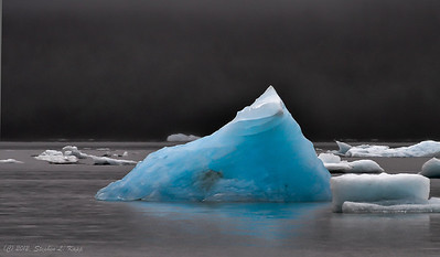 Blue Iceberg On Mendenhall Lake