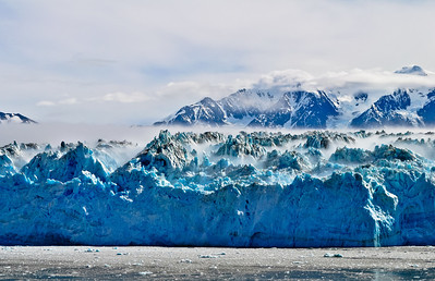 Mist Above Hubbard Glacier