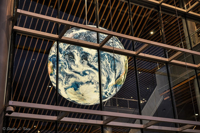 Earth Globe inside Vancouver Convention Centre