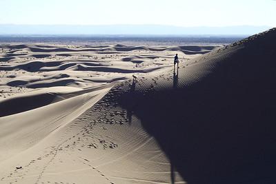 Boy Exploring with Dog - Glamis Sand Dunes