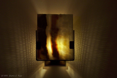 Agate Rock Slice - Wall Sconce Light