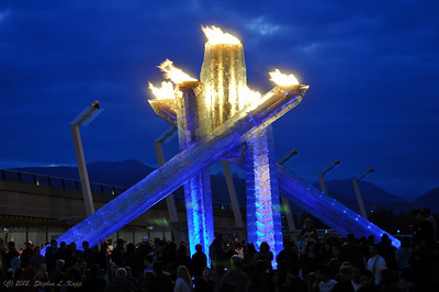 Olympic Cauldron - Evening of Canada Day, 2010