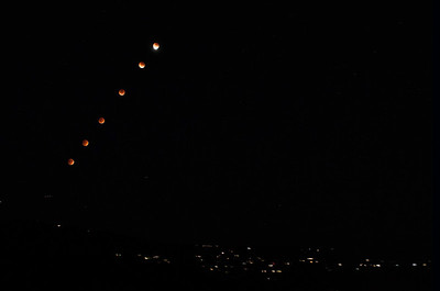 Partial Super Blood Moon Sequence