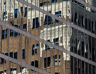 Marine Building Reflected off CIBC Building - Pattern
