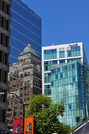Marine Building Reflected off Canadian Imperial Bank of Commerce (CIBC) Building