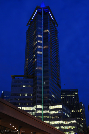 Shaw Tower at Night