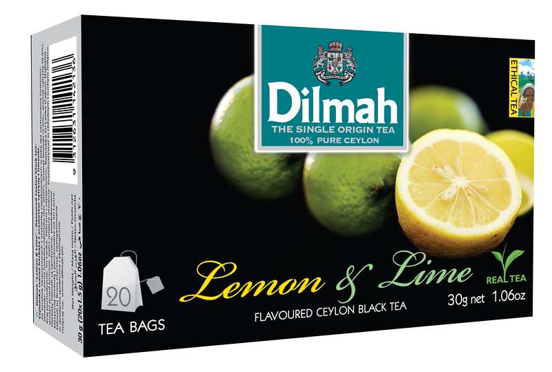 504099, Dilmah sidruni/laimimaits. must tee niidikesega kotis 20*1,5g