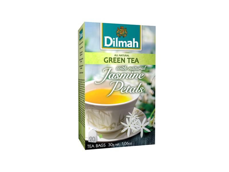506599, Dilmah roheline tee jasmiiniõitega, niidikesega kotis 20*1,5g