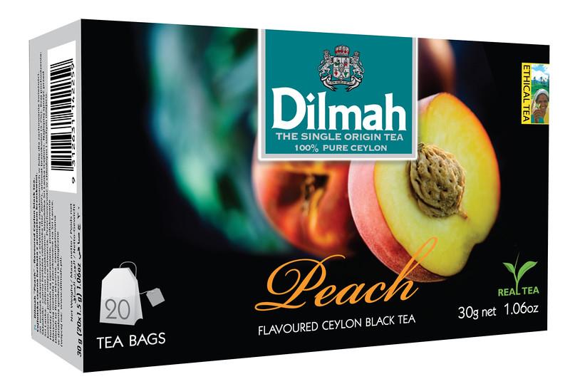 503699, Dilmah virsikumaits. must tee niidikesega kotis 20*1,5g