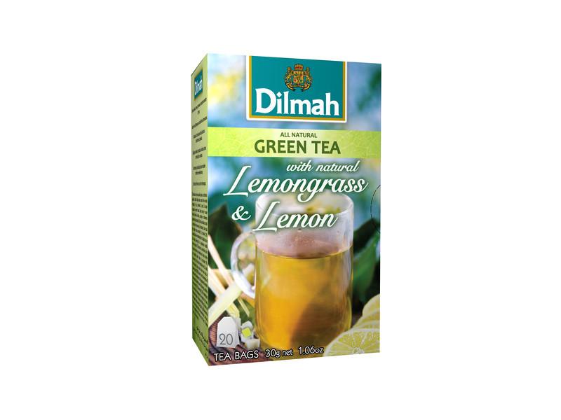 506499, Dilmah roheline tee sidrunheina ja loodusliku sidrunimaitsega 20*1,5g