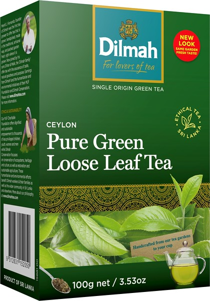 506899 DILMAH 100g/6 Ceylon Green Tea leaf tea 9312631152050