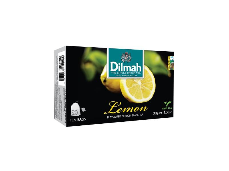 503499, Dilmah sidrunimaits. must tee niidikesega kotis 20*1,5g