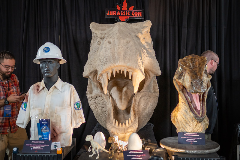Jurassic Con display at Dino Fest!