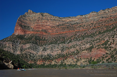 Rainbow cliffs of lower Whirlpool Canyon, Utah, June 2008.