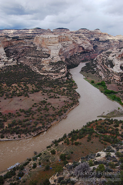 Stormy weather over Colorado's Yampa River, June 2008.