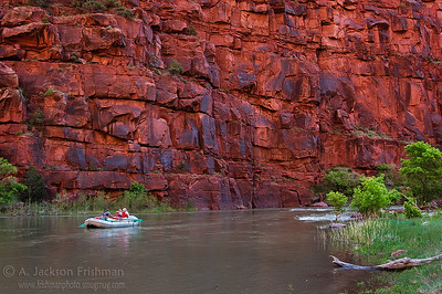 Rafting in morning light, Lodore Canyon, Colorado, June 2008.