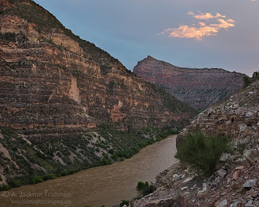 Sunset in Whirlpool Canyon, Dinosau National Monument, Utah, June 2011.