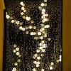 Christmas lights on a rainy night