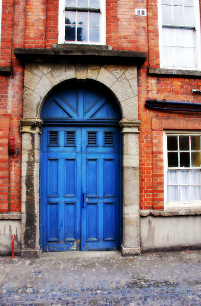 """Blue Door at Trinity""<br /> <br /> Trinity College  <br /> © Copyright Ken Welsh"
