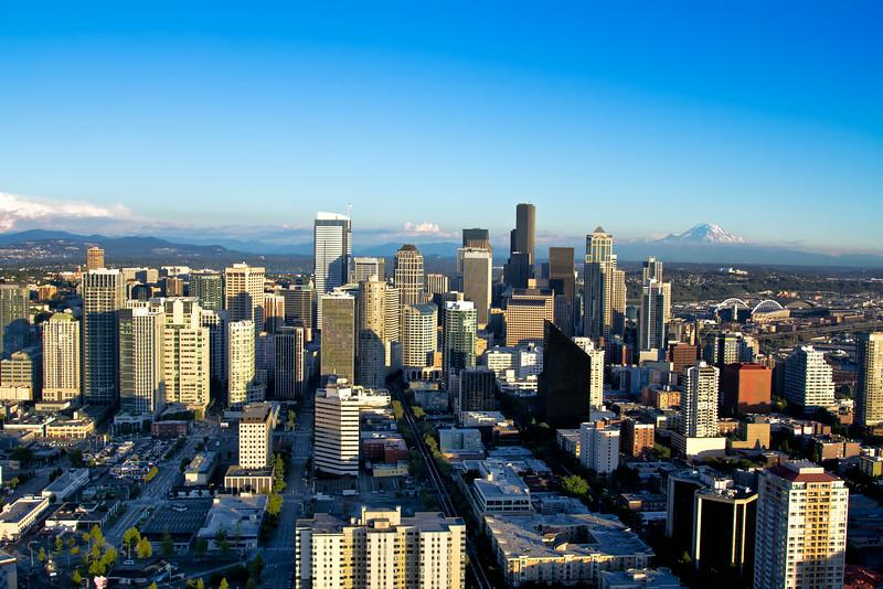 Seattle Skyline with Mt Rainier