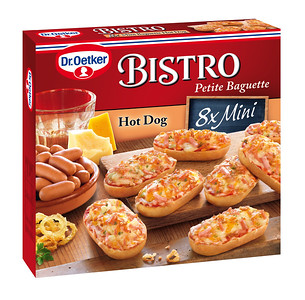 "302399 Dr.Oetker Bistro Mini-baguette ""Hot Dog"" 240g, 8tk 4001724016144"